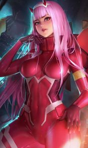 DARLING in the FRANXX女主角零二Zero Two 02高清手机壁纸图片集(2)